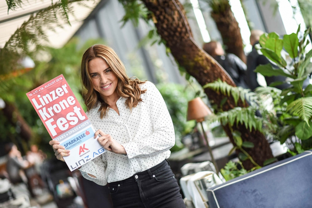 Mel C, Kronefest Linz, August 2018, Party am Hauptplatz